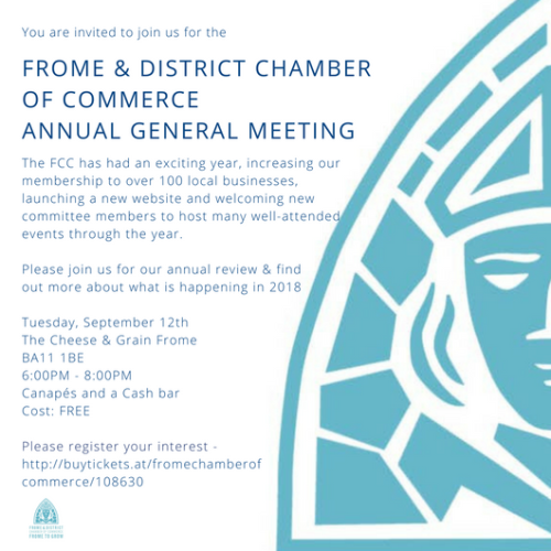 Frome businesses invited to Chamber AGM